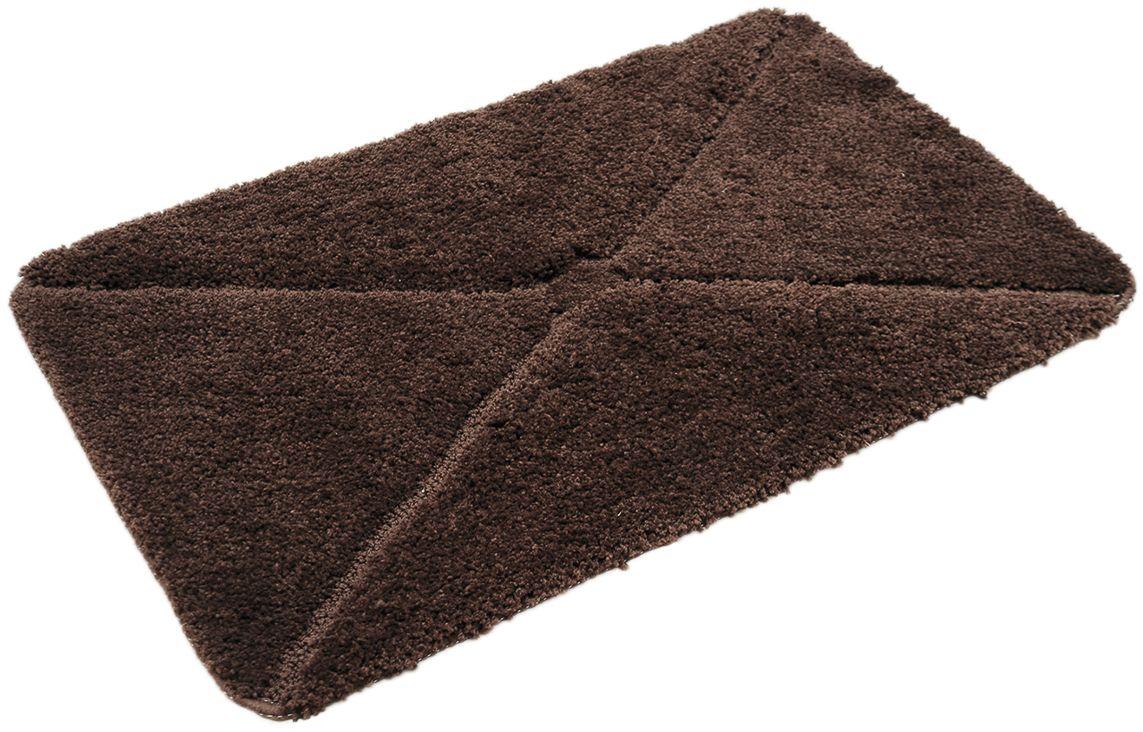 Коврик для ванной Wess Sofa, цвет: коричневый, 50 х 80 смA51-60Рельефный узор в стиле капитоне достигается за счет использования разных длин ворса и подчеркивает изящность интерьера ванной комнаты. Максимальная длина ворса составляет 2 см. Коврик для ванной комнаты снабжен латексной основой, предотвращающей скольжение на кафеле, отлично впитывает влагу, быстро сохнет, сохраняет первоначальные свойства и внешний вид даже после многочисленных стирок, дает приятные тактильные ощущения.