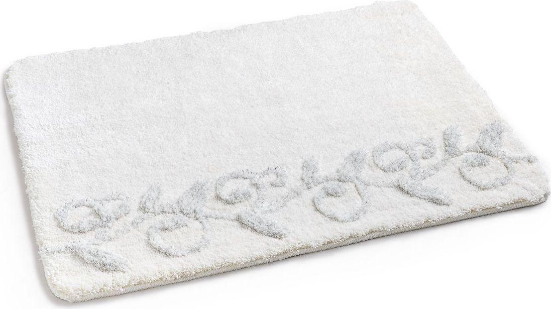 Коврик для ванной Wess Elegance, цвет: бежевый, 70 х 100 смA61-60Коврик для ванной Wess Elegance изготовлен из микрофибры. Термопластиковая резиновая основа препятствует скольжению по гладкому полу. Легко отстирывается, сохраняя первоначальный цвет. Оригинальный дизайн коврика, аналогов нет.