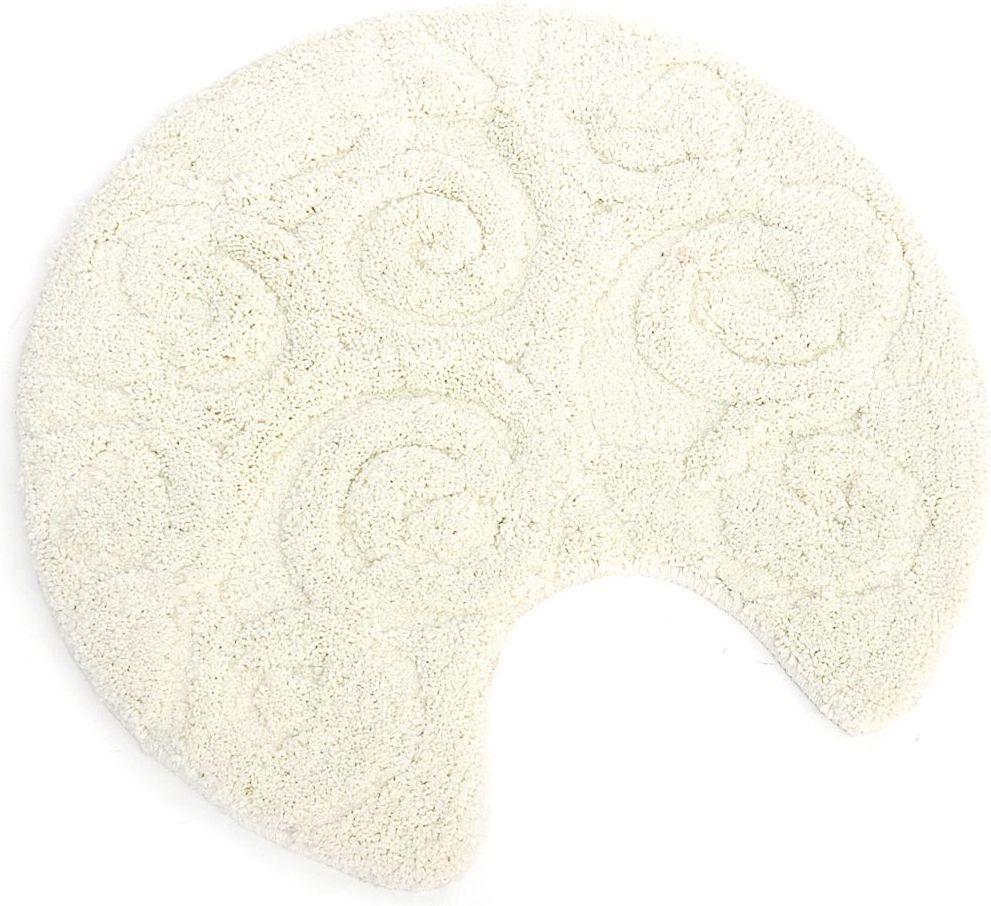 Коврик для туалета Wess Numkesh, цвет: бежевый, диаметр 60 cмAK35-60Изящный орнамент коврика для туалета позволит создать светлый и мягкий интерьер. Максимальная длина ворса составляет 2 см. Коврик для ванной комнаты снабжен латексной основой, предотвращающей скольжение на кафеле, отлично впитывает влагу, быстро сохнет.