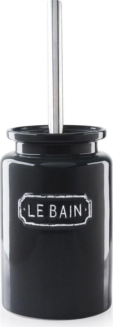 Ершик для туалета Wess Le Bain gris, с подставкой, цвет: серый. G79-80G79-80Благодаря эффектному сочетанию утилитарной минималистичной формы, глазури графитового цвета и надписи в изящной рамке ершик Le Bain гармонично впишется как в современный, так и классический интерьер.