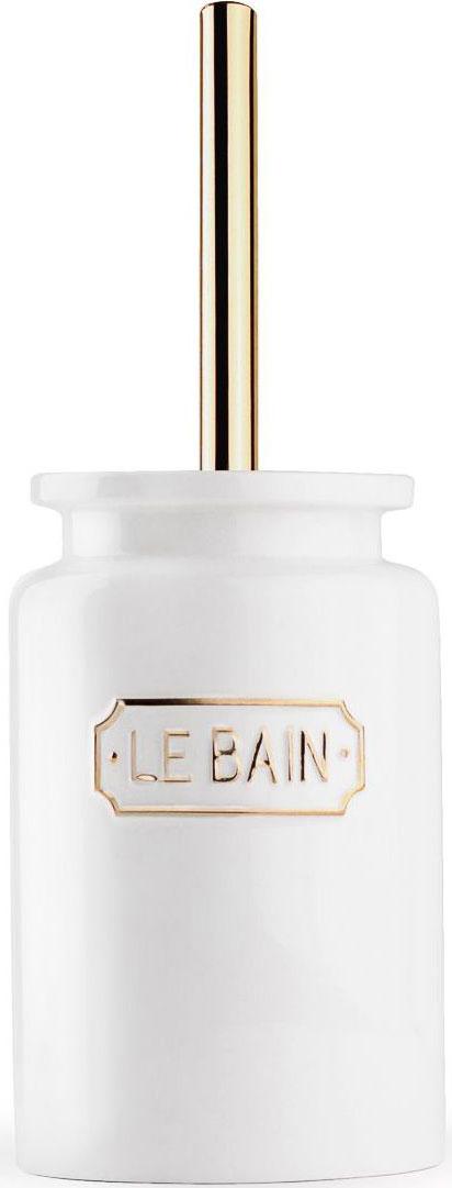 Ершик для туалета Wess Le Bain blanc, с подставкой, цвет: белый. G79-81G79-81Благодаря эффектному сочетанию утилитарной минималистичной формы, белоснежной глазури и надписи в изящной рамке ершик Le Bain гармонично впишется как в современный, так и классический интерьер.