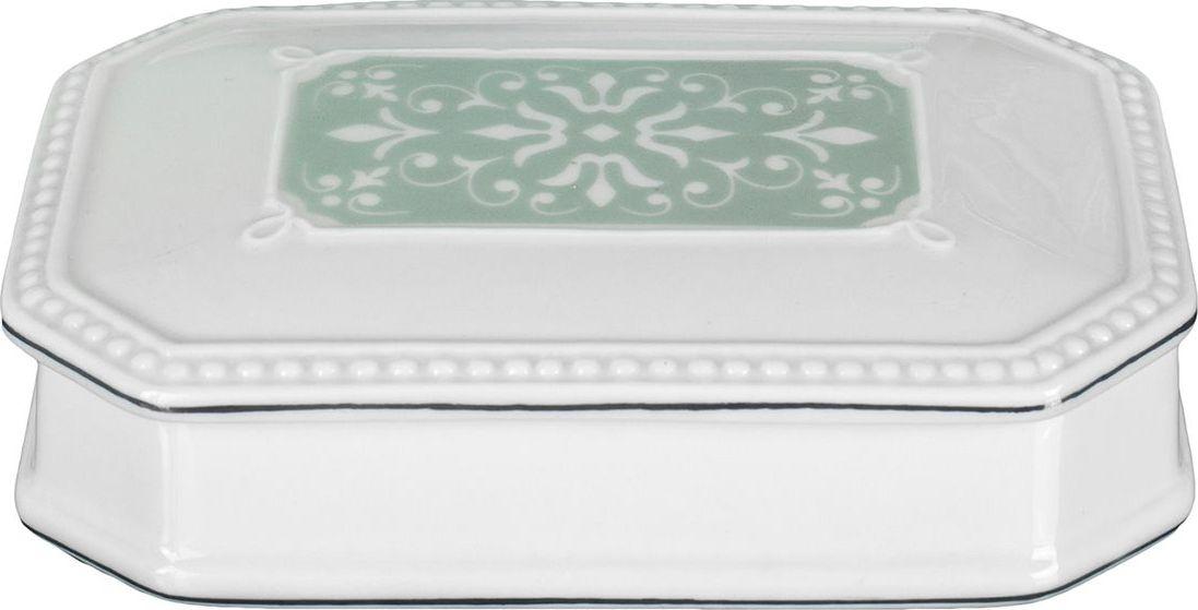 Шкатулка Wess Hermitage, цвет: белый. G81-84G81-84Классический стиль не терпит фальши и отступления от традиций. В роскошной коллекции Hermitage соблюдены эти правила. Изящество линий шкатулки соседствует с подлинной аристократической сдержанностью, а витиеватость узора с воздушностью керамики.