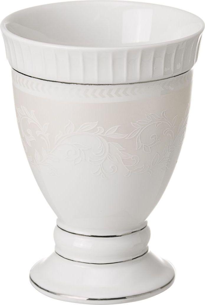 Стакан для зубных щеток Wess Elegance, цвет: белый. G85-40G85-40Этот стаканчик выполнен в классическом стиле. Утонченные, изящные формы в сочетании с нежными линиями деколя создают законченный образ ванной комнаты, привлекая своей изысканностью. Светлая цветовая гамма подчеркивает элегантность аксессуара.