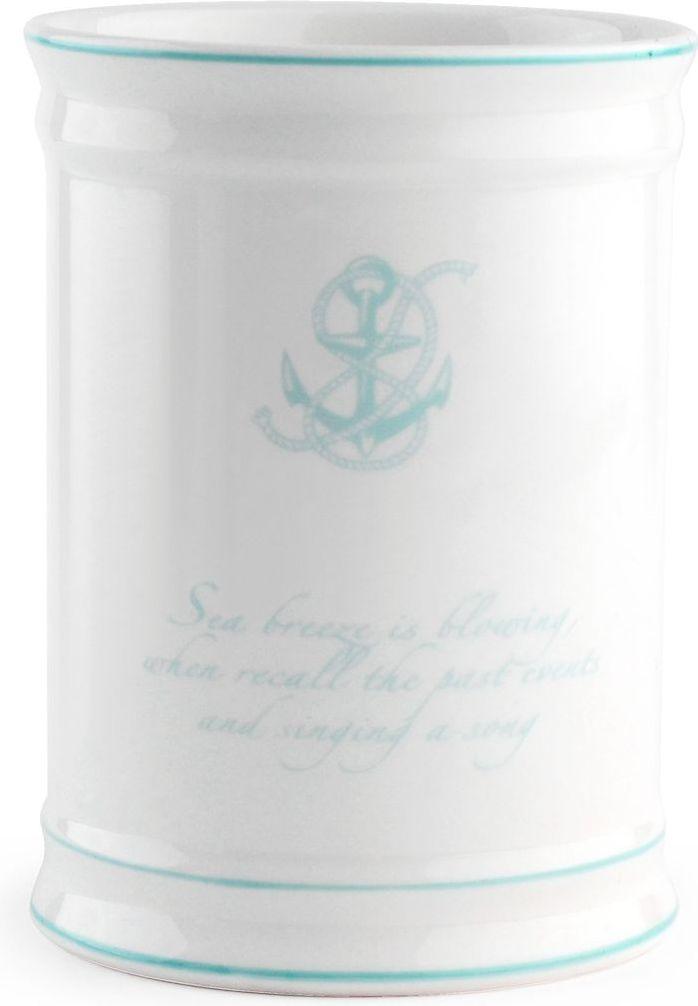 Стакан для зубных щеток Wess Atlantic, цвет: белый. G85-82G85-82Стакан для зубных щеток Atlantic подойдет для любителей морских круизов и путешествий. Красивая цветовая гамма, глянцевая поверхность предметов добавят колоритности вашей ванной комнате.