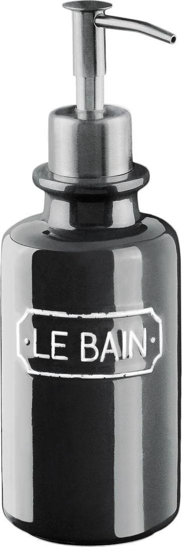 Дозатор для жидкого мыла Wess Le Bain gris. G87-80G87-80Благодаря эффектному сочетанию утилитарной минималистичной формы, глазури графитового цвета и надписи в изящной рамке дозатор для жидкого мыла Le Bain гармонично впишется как в современный, так и классический интерьер.