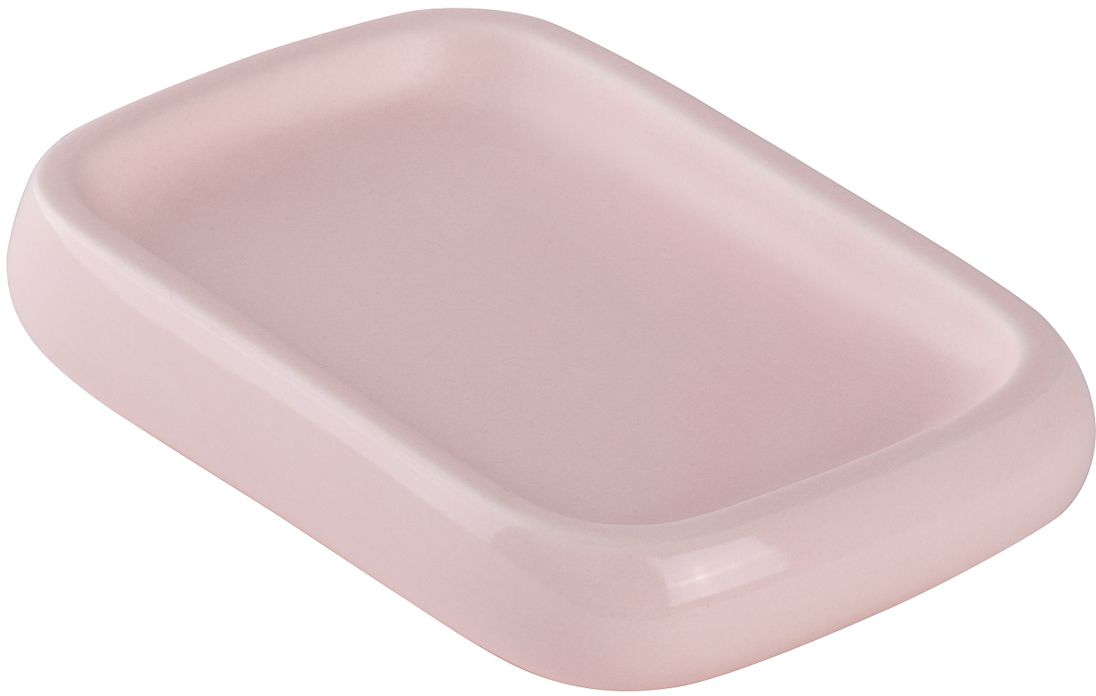 Мыльница Wess Brillar pink, цвет: розовый. G88-87G88-87Мыльница Wess Brillar выполнена из керамики - гипоаллергенного и простого в обращении материала. Поверхность имеет разные текстуры: сверху матовая, снизу глянцевая. Мыльница может быть как самодостаточным предметом, так и частью единого интерьерного ансамбля.