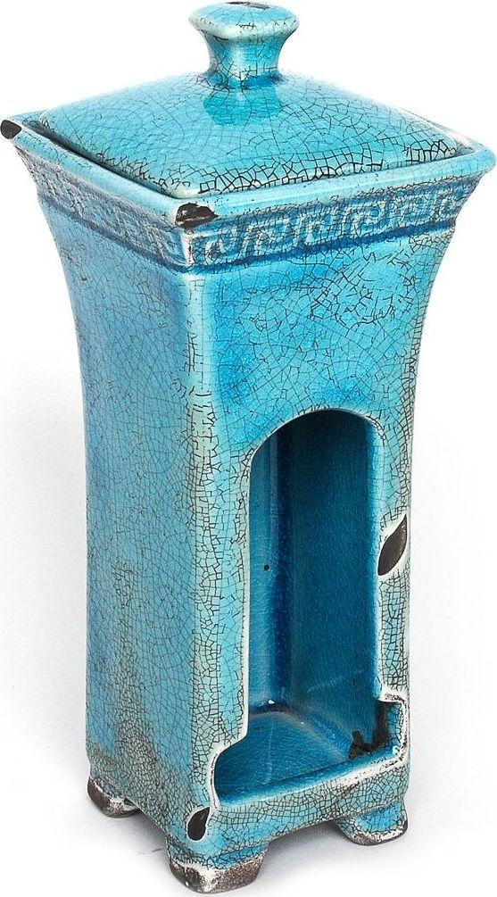 Древнегреческие мотивы в декоре контейнера для ватных дисков добавят изысканность в классическую ванную комнату. Сложные цвета, кракелюр, элегантные формы делают аксессуар грациозным и неповторимым.