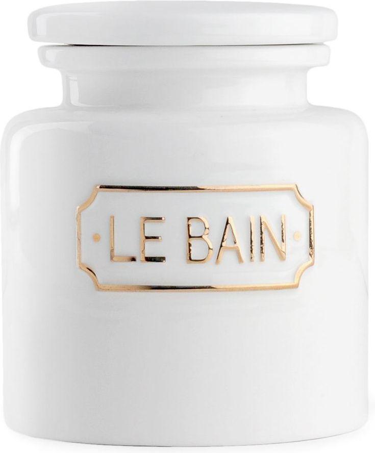 Контейнер для ватных дисков Wess Le Bain blanc. G95-81G95-81Благодаря эффектному сочетанию утилитарной минималистичной формы, белоснежной глазури и надписи в изящной рамке контейнер для ватных дисков Le Bain blanc гармонично впишется как в современный, так и классический интерьер