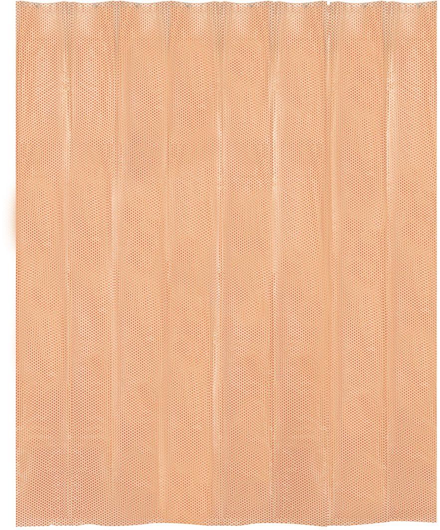 Ярко-оранжевый цвет зарядит бодрой энергией и подарит хорошее настроение, а также станет ярким акцентом в любом интерьере ванной комнаты. Занавеска изготовлена по уникальной технологии нанесения рельефного рисунка Engraved Pattern, имеет 12 отверстий для колец.  Кольца приобретаются отдельно.