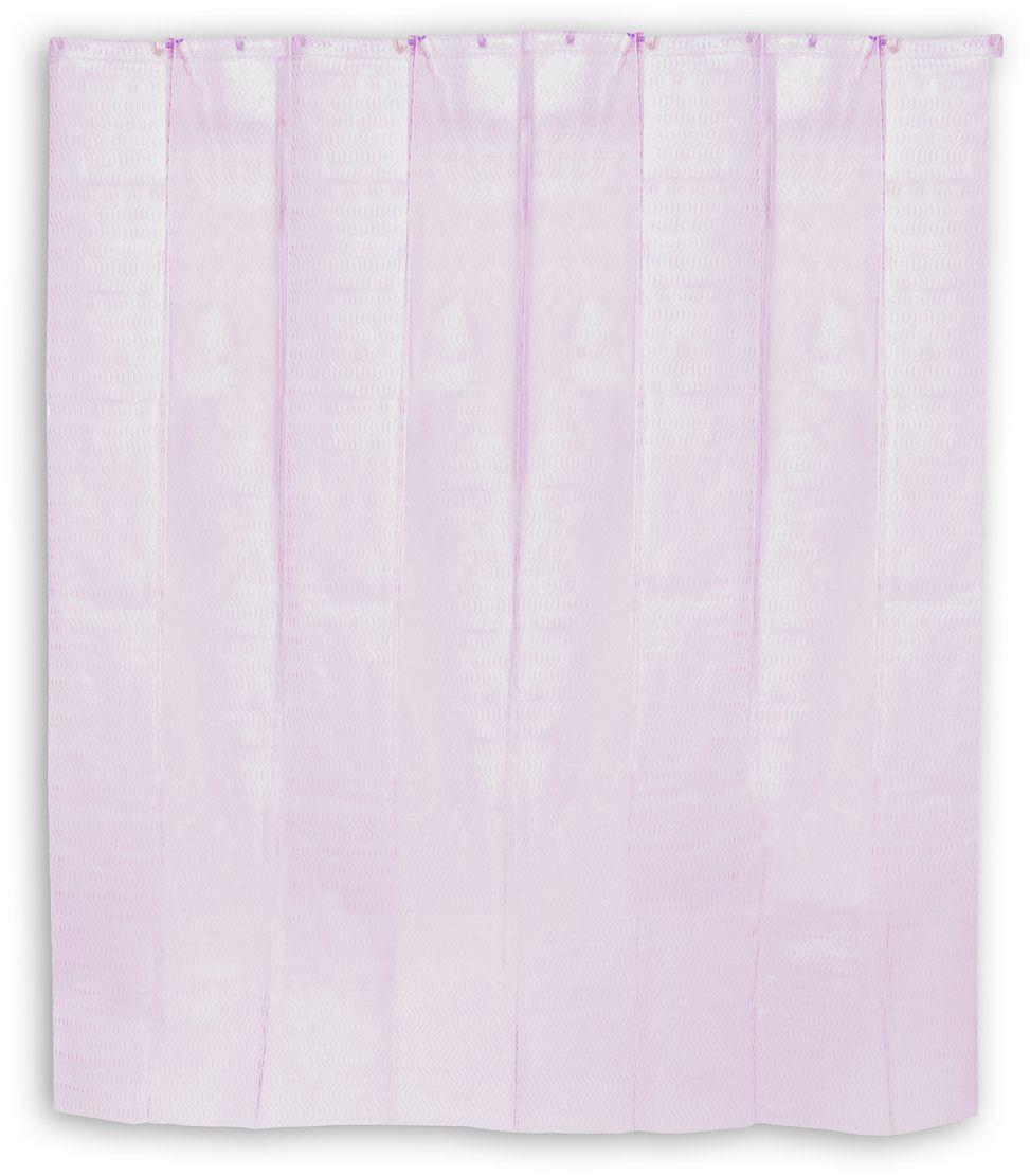 Штора для ванной Wess Graph, цвет: розовый, 178 х 180 см. P539-8P539-8Дизайн занавески Graph несет в себе динамику движения. Вместе с тем спокойная пастельная цветовая гамма хорошо подойдет для большинства интерьеров ванной комнаты. Занавеска изготовлена по уникальной технологии нанесения рельефного рисунка Engraved Pattern, имеет 12 отверстий для колец. Кольца приобретаются отдельно.