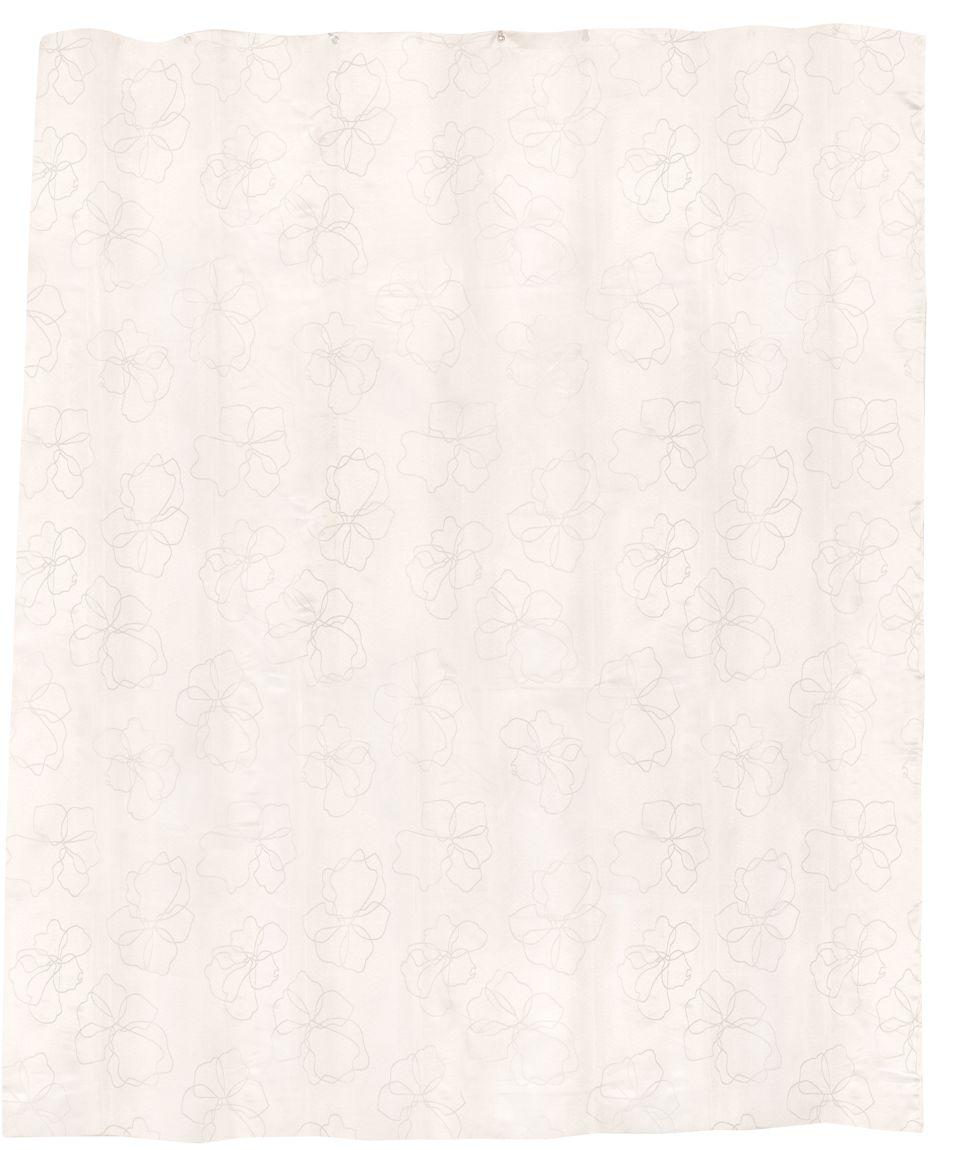 Пастельный цвет, нежный рисунок, жаккардовое плетение делают интерьер ванной комнаты уютным. Повышенная плотность материала и специальная пропитка обеспечивают водонепроницаемость шторы. Занавеска имеет 12 металлических люверсов. Кольца приобретаются отдельно.