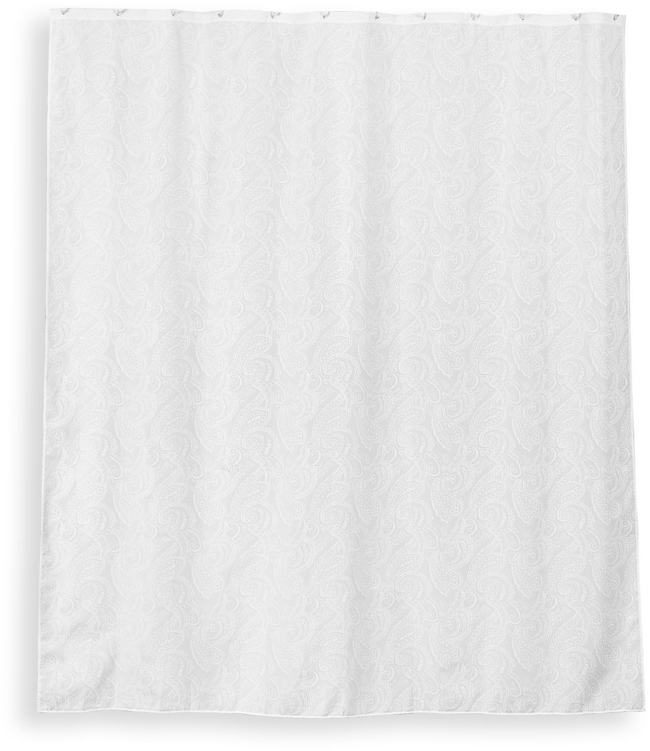 "Штора для ванной Wess ""Paisley"", цвет: белый, 180 х 200 см. T630-1"
