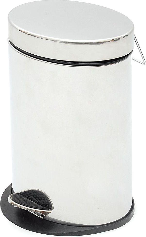 Ведро для мусора Wess Eisen Kroom, с педалью, 5 лV02-02Удобное ведро для мусора с хромированной поверхностью и зеркальным блеском с легкостью впишется в любой интерьер. Надежная система подъема крышки прослужит долго. Наличие педали обеспечивает удобство использования.