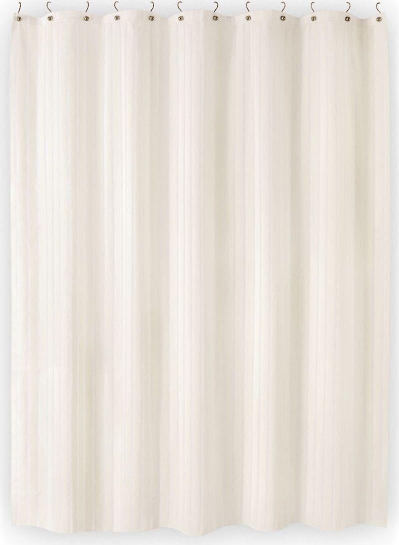 Штора для ванной Moroshka Naturel, 180 х 200 см. xx004-03xx004-03Занавеска содержит 64% полиэстера и 36% хлопка. А также имеет 12 отверстий-люверсов цвета хром, кольца в комплект не входят. Нижний край занавески с утяжеляющей полоской. Полотно изделия пропитано двойным водоотталкивающим слоем с обеих сторон.