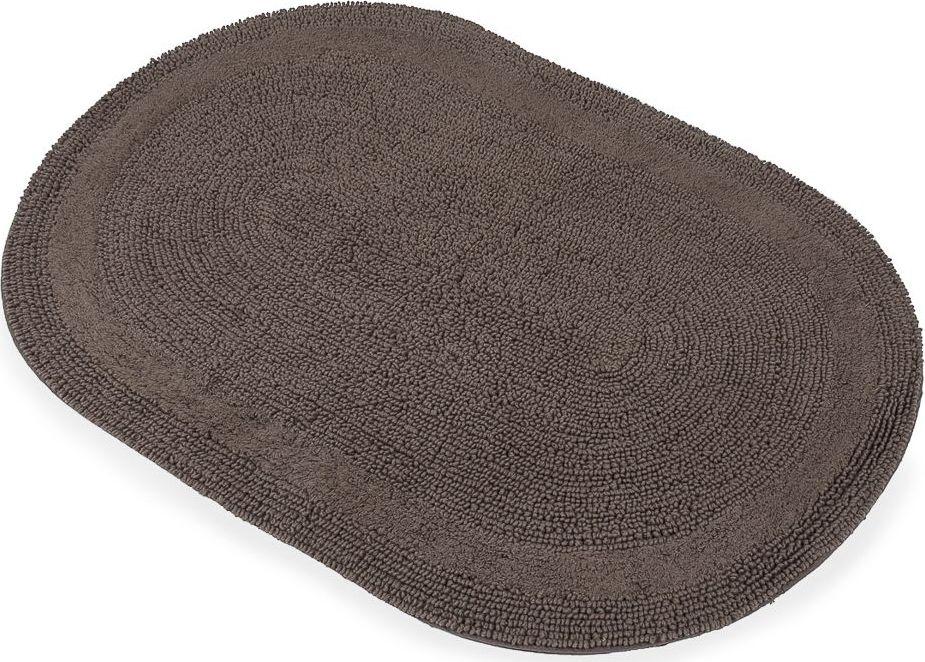 Коврик для ванной Moroshka Naturel, цвет: коричневый, 60 х 90 смxx004-22Овальный коврик с ворсом в форме петель Moroshka Naturel выполнен из 100% хлопка.Коврик двусторонний, а это значит, что обе его стороны имеют одинаково привлекательный вид.Высота ворса: 2,5 мм.