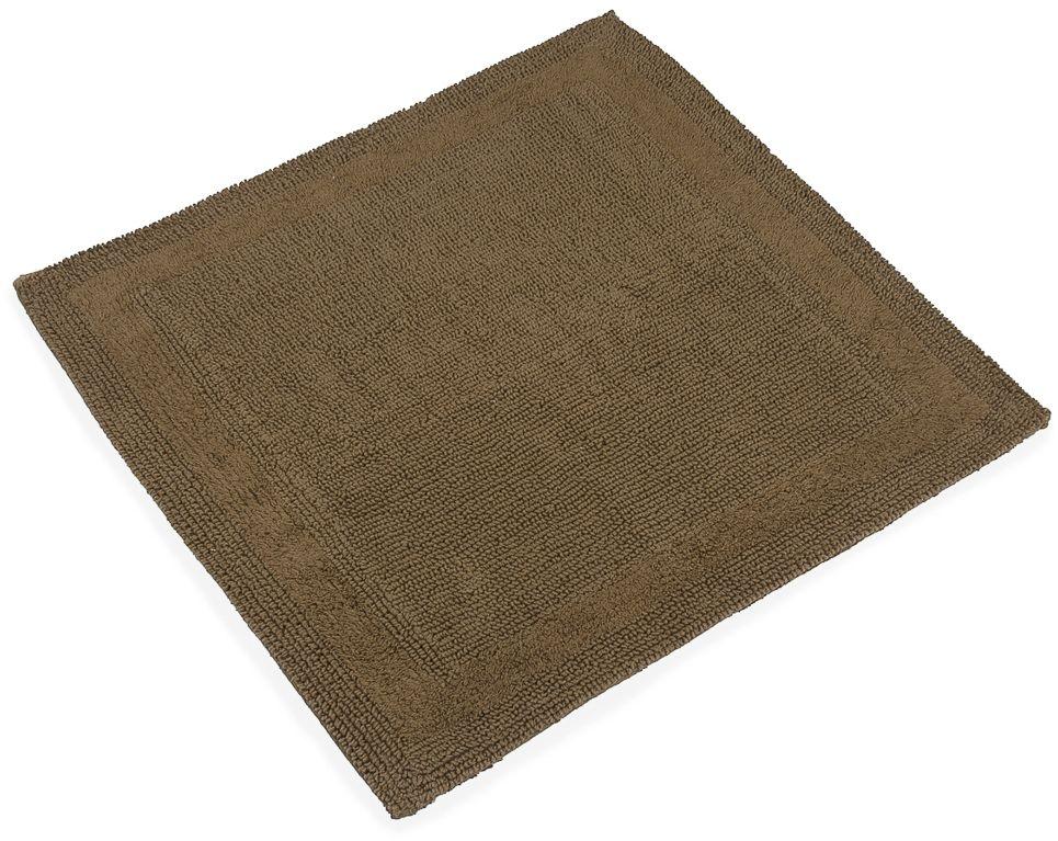 """Квадратный коврик с ворсом в форме петель Moroshka """"Naturel"""" выполнен из 100% хлопка.  Коврик двусторонний, а это значит, что обе его стороны имеют одинаково привлекательный вид. Высота ворса: 2,5 мм."""
