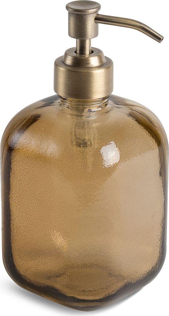 Дозатор для жидкого мыла Moroshka Naturel, цвет: коричневый. xx004-38xx004-38Дозатор для мыла с мягкими формами. Носик выполнен в металле, покрыт антикоррозийной краской цвета латунь. Все стеклянные изделия Naturel изготовлены из вторичного сырья, что оправдывает название коллекции не только в дизайне.