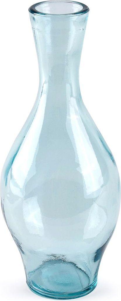 Ваза Moroshka Naturel, цвет: синий, 9 х 24 х 9 смxx004-84Фигурная ваза небесного цвета из стекла вторичной обработки. Сырье собирают со всех концов Испании и перерабатывают, вдыхая в него вторую жизнь в новом виде. Любовь к природе и заботе о ней – одно из ключевых понятий коллекции Naturel.