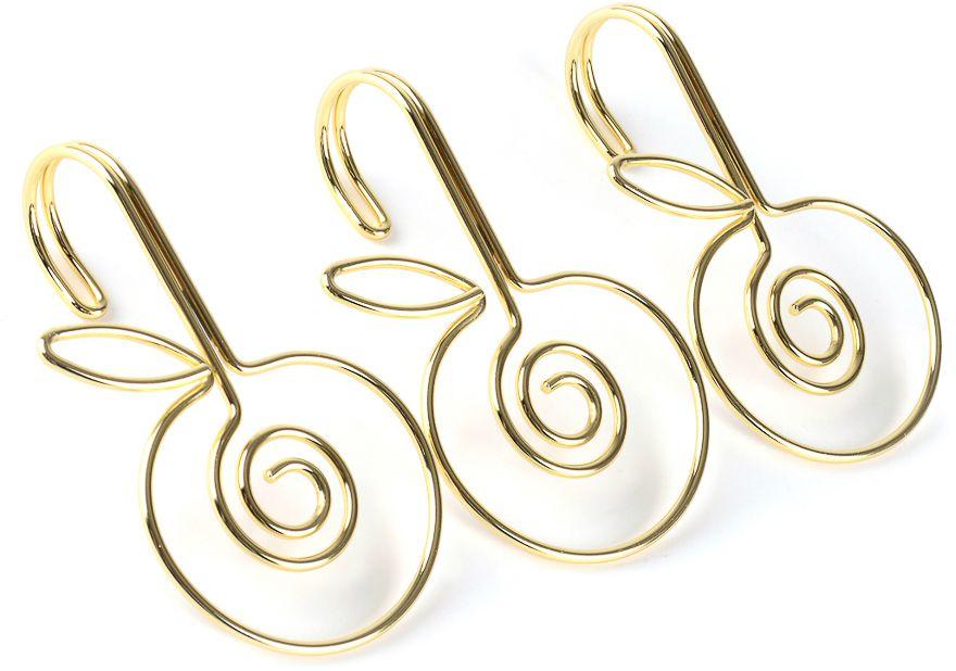 Кольца для карниза для ванной Moroshka Fairytale, 12 штxx005-05Металлические кольца в форме яблок с покрытием цвета золота. Без крепления. Для установки необходимо продеть через отверстие на занавеске и зацепить за карниз. В упаковке 12 штук.