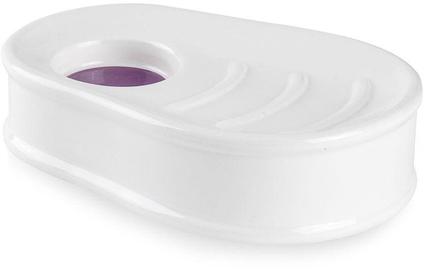"""Мыльница Moroshka """"Fairytale"""" выполнена из керамики в форме матрешки с декоративным углублением. Выпуклые насечки на дне изделия препятствуют прилипанию мыла. Углубление также служит стоком лишней воды."""