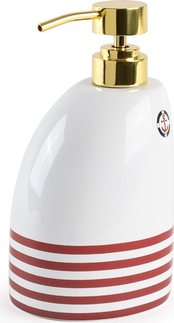Дозатор для жидкого мыла Moroshka Maritime, цвет: белый. xx006-05 шкатулка moroshka maritime xx006 68
