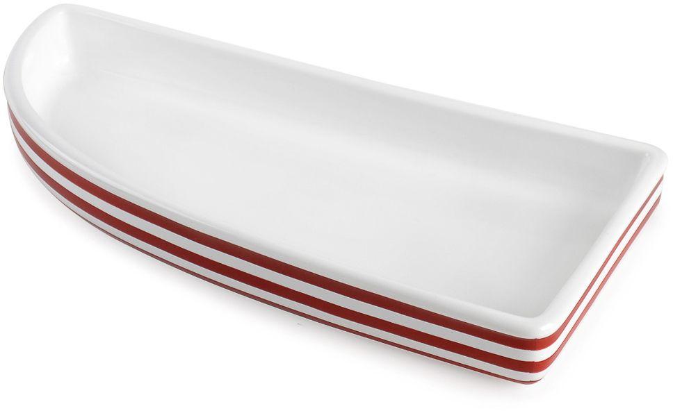 Поднос треугольный Moroshka Maritime, цвет: белый, красный, 26 х 3,5 х 12,6 смxx006-46Поднос-парусник Moroshka Maritime выполнен из керамики. Эта форма разработана петербургскими дизайнерами, специально для предметов коллекции Maritime. Сам предмет небольшого размера и с низким бортиком.Размер: 26 х 3,5 х 12,6 см.