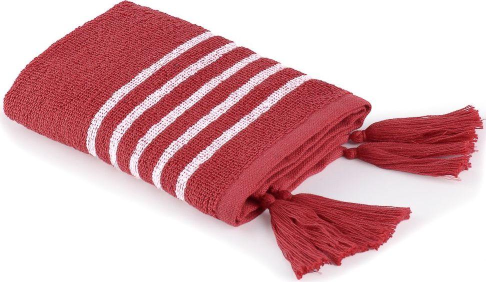 Полотенце Moroshka Maritime, цвет: белый, красный, 30 х 50 см. xx006-56 ведро для мусора moroshka maritime цвет белый красный 2 8 л
