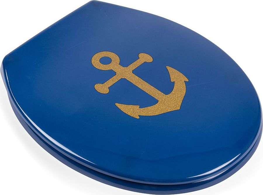 Сиденье для унитаза Moroshka Maritime, цвет: синий. xx006-63 ведро для мусора moroshka maritime цвет белый красный 2 8 л