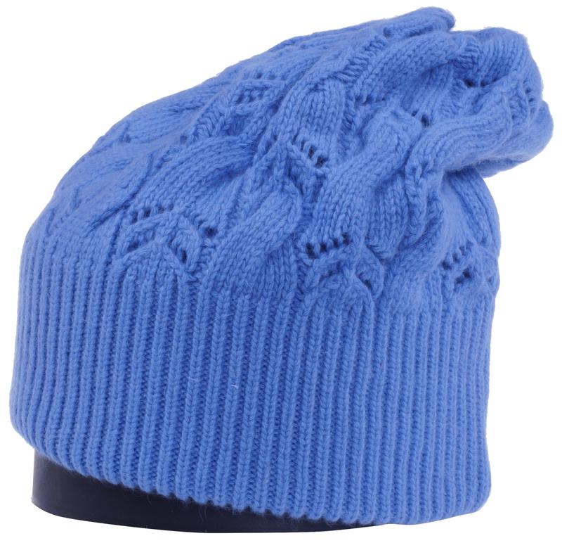 Шапка женская Vittorio Richi, цвет: темно-голубой. Aut261858L-57/17. Размер 56/58Aut261858LСтильная женская шапка Vittorio Richi отлично дополнит ваш образ в холодную погоду. Модель, изготовленная из высококачественных материалов, максимально сохраняет тепло и обеспечивает удобную посадку. Шапка дополнена ажурной вязкой. Привлекательная стильная шапка подчеркнет ваш неповторимый стиль и индивидуальность.