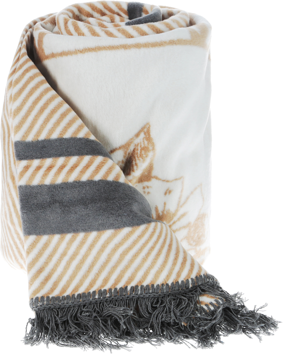 Плед Arya Abril, цвет: бежевый, 150 x 200 см6030116709Плед с орнаментом Arya Abril, выполненный из хлопковой байки (хлопок с добавлением акрила и полиэстера), порадует вас легкостью,нежностью и оригинальным дизайном. Байка - мягкая ткань с густым начёсом с двух сторон. Традиционно из хлопковой байки делают детские одеяла, которые можно стирать игладить при высокой температуре. После первой стирки ворс на байке немного оседает, зато после этого одеяло долгие годы будет сохранятьвнешний вид и мягкость. Под байковым одеялом невозможно вспотеть, оно отлично впитывает и отводит влагу, поэтому такие одеяла используютдля детей с самого рождения. Плед - это такой подарок, который будет всегда актуален,особенно для ваших родных и близких, ведь вы дарите имчастичку своего тепла.