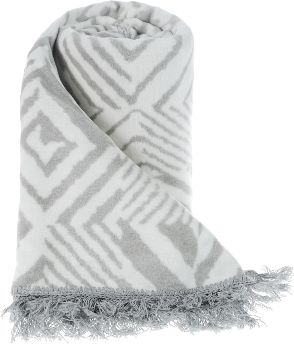 """Плед с орнаментом Arya """"Sammy"""", выполненный из хлопковой байки (хлопок с добавлением акрила и полиэстера), порадует вас легкостью,  нежностью и оригинальным дизайном.   Байка - мягкая ткань с густым начёсом с двух сторон. Традиционно из хлопковой байки делают детские одеяла, которые можно стирать и  гладить при высокой температуре. После первой стирки ворс на байке немного"""