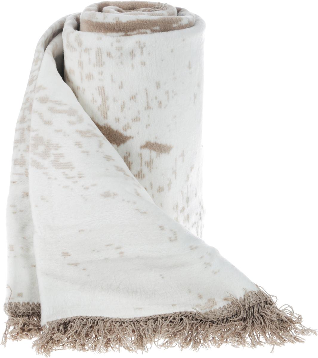 Плед Arya Oreo, цвет: бежево-серый, 150 x 200 смTRK111000017438Плед с орнаментом Arya Oreo, выполненный из хлопковой байки (хлопок с добавлением акрила и полиэстера), порадует вас легкостью, нежностью и оригинальным дизайном.Байка - мягкая ткань с густым начёсом с двух сторон. Традиционно из хлопковой байки делают детские одеяла, которые можно стирать и гладить при высокой температуре. После первой стирки ворс на байке немного оседает, зато после этого одеяло долгие годы будет сохранять внешний вид и мягкость. Под байковым одеялом невозможно вспотеть, оно отлично впитывает и отводит влагу, поэтому такие одеяла используют для детей с самого рождения.Плед - это такой подарок, который будет всегда актуален, особенно для ваших родных и близких, ведь вы дарите им частичку своего тепла.