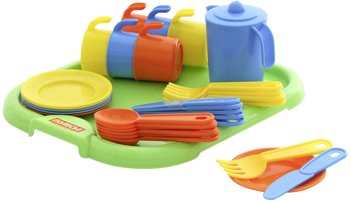 Полесье Набор игрушечной посуды Анюта 3896 легковой автомобиль полесье жук 0780
