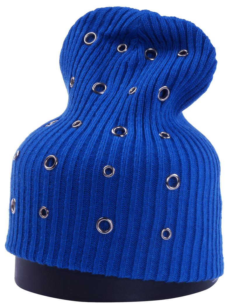 Шапка женская Vittorio Richi, цвет: электрик. Aut241879B-20/17. Размер 56/58Aut241879BСтильная женская шапка Vittorio Richi отлично дополнит ваш образ в холодную погоду. Модель, изготовленная из шерсти с добавлением полиамида, максимально сохраняет тепло и обеспечивает удобную посадку. Шапка дополнена декоративными, металлическими кольцами. Привлекательная стильная шапка подчеркнет ваш неповторимый стиль и индивидуальность.