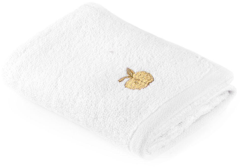 Полотенце Moroshka Fairytale, цвет: белый, 30 х 50 см. xx005-31xx005-31Белоснежное полотенце для рук Moroshka Fairytale украшено вышивкой нитью золотого цвета. Оно изготовлено из 100 % хлопка высокого качества. Оптимальная плотность (500 г/м.кв.) для впитывания влаги. Фирменная петелька на полотенце для удобства размещения полотенца на крючке. Можно стирать вручную или в стиральной машине при температуре до 40°С. Рекомендуется стирать с вещами, схожими по цвету.