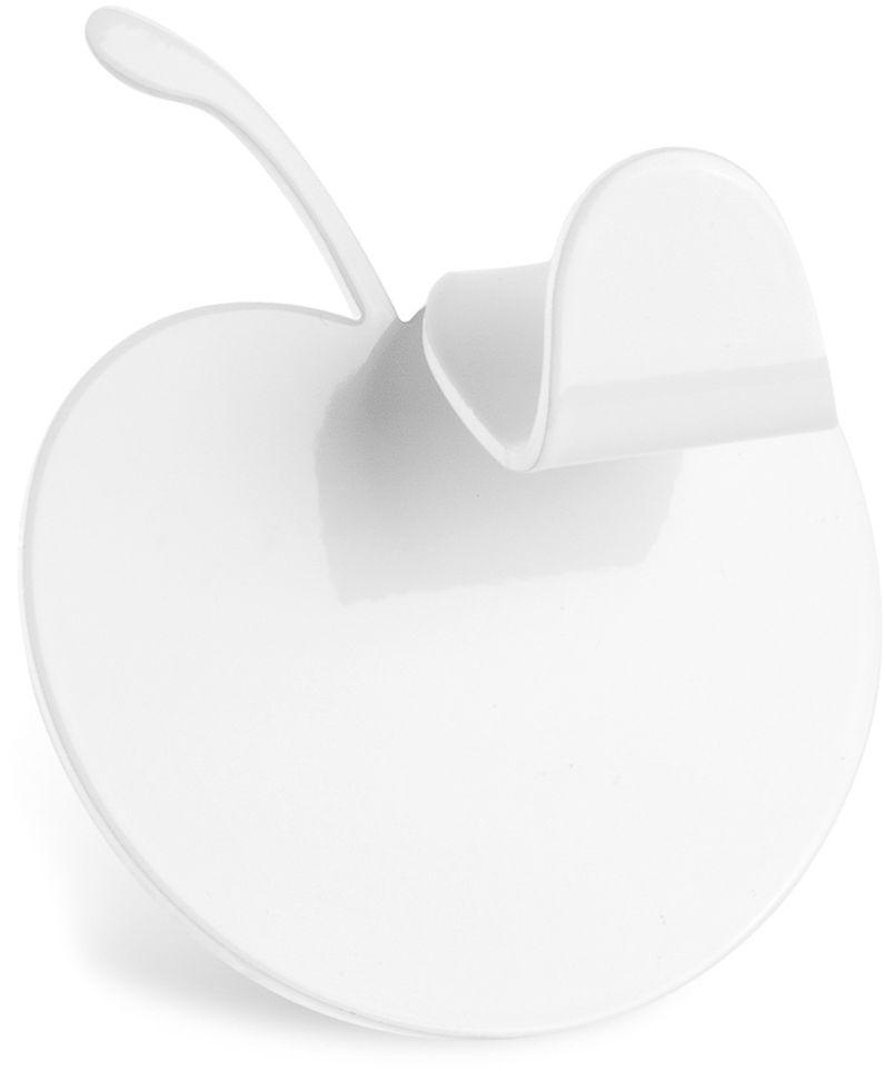 """Одинарный крючок Moroshka """"Fairytale"""" выполнен из литого куска металла в форме яблока. Покрыт краской белого цвета. Крепится на ровную поверхность при помощи стикера на обратной стороне изделия. Использовать стикер можно только 1 раз. Максимальная нагрузка: 5 кг."""