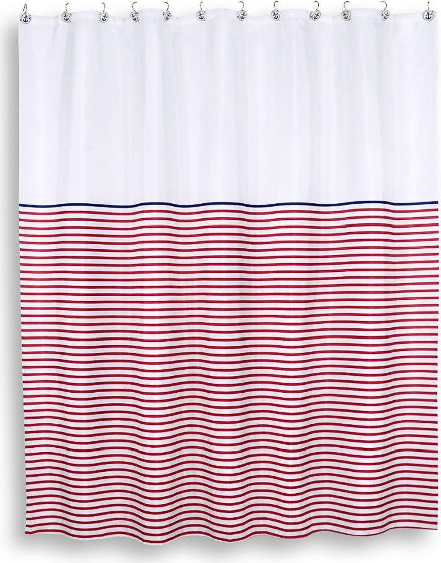 Штора для ванной Moroshka Maritime, 200 х 200 см. xx006-10xx006-10Лаконичный рисунок создает визуальный эффект волн. Имеет 12 отверстий-люверсов цвета хром. Кольца приобретаются отдельно. Нижний край занавески с утяжеляющей полоской. Полотно изделия пропитано двойным водоотталкивающим слоем с обеих сторон.