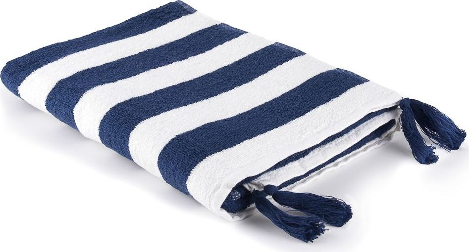 Полотенце Moroshka Maritime, цвет: белый, синий, 70 х 140 см. xx006-54 ведро для мусора moroshka maritime цвет белый красный 2 8 л