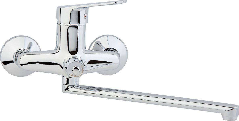 Смеситель для ванны ARCO А2023 одноручковый, L-образныйизлив, 40 картИС.240Смеситель для ванны ARCO А2023 одноручковый (L-обр.излив, 40 карт) предназначен для подачи и смешения холодной и горячей воды, выполнен из цинкового сплава (в составе 95% цинка ) .Рабочее давление: до 3 Bar Максимальное проверочное давление: до 4,5 Bar (не более 15 мин) Рабочая температура: до +75°С Рабочая среда: вода В комплект входит: - шланг для душа длина 145 см - однорежимная душевая лейка - кронштейн на стену для душевой лейки