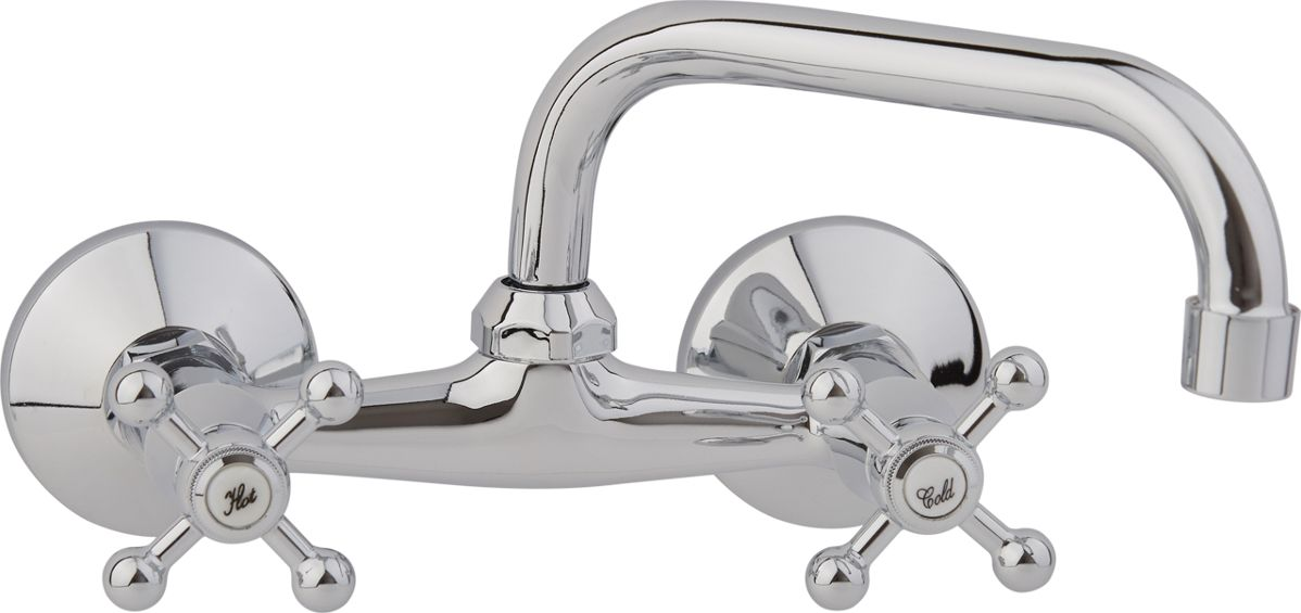 Настенный смеситель для кухни ARCO А4606 предназначен для подачи и смешения холодной и горячей воды, выполнен из цинкового сплава (в составе 95% цинка). Рабочее давление: до 3 Bar.  Максимальное проверочное давление: до 4,5 Bar (не более 15 мин).  Рабочая температура: до +75°С.  Рабочая среда: вода.  В комплект входит крепление.