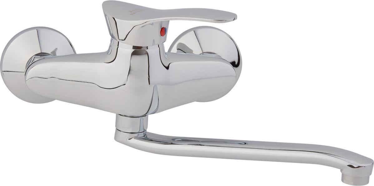 Смеситель для кухни Arco А4606, настенный, с поворотным изливом смеситель для кухни vidima уно с литым поворотным изливом ba241aa