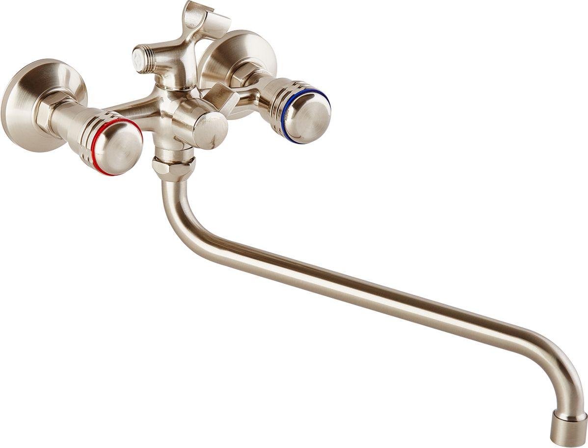 Смеситель для ванны ОПТИМА О2515S, с круглым изливом, с круглыми маховикамиИС.240717Смеситель для ванны ОПТИМА О2515S имеет круглый излив и круглые маховики бронзового оттенка. Смеситель изготовленный из латуни, предназначен для подачи и смешения холодной и горячей воды. Обеспечивает регулировку интенсивности потока и получение воды на выходе требуемой температуры.Латунный корпус очень прочен и надежен в эксплуатации. Для защиты от коррозии предусмотрено хромовое покрытие. Рабочее давление: до 6 Bar.Максимальное кратковременное давление: до 9 Bar.Рабочая температура: до +90°С.Рабочая среда: вода. В комплект входит: - шланг для душа длина 1,5 м (двойной замок). - 3-х режимная душевая лейка. - кронштейн на стену для душевой лейки.