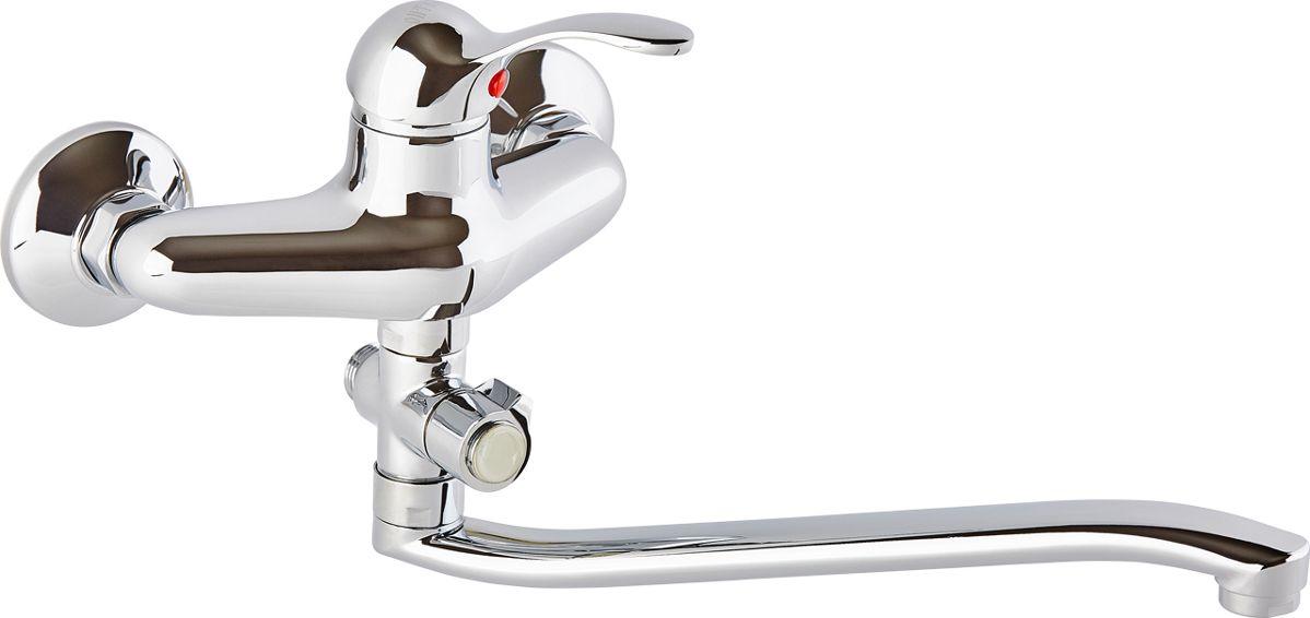 Смеситель для ванны ОПТИМА О2112, одноручковый, с L-образным изливомИС.240724Смеситель для ванны ОПТИМА О2112 одноручковый с L-образным изливом, предназначен для подачи и смешения холодной и горячей воды. Диаметр картриджа: 40 мм.Рабочее давление: до 6 Bar.Максимальное кратковременное давление: до 9 Bar.Рабочая температура: до +90°С.Рабочая среда: вода. В комплект входит: - шланг для душа длина 1,5 м (двойной замок). - 3-х режимная душевая лейка. - кронштейн на стену для душевой лейки.