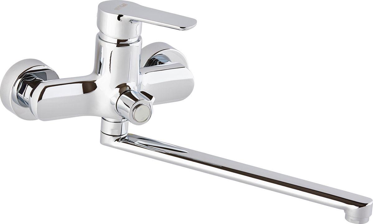 Смеситель для ванны ОПТИМА О2045, одноручковый, с L-образным изливомИС.240726Смеситель для ванны ОПТИМА О2045 одноручковый с L-образным изливом, предназначен для подачи и смешения холодной и горячей воды. Диаметр картриджа: 35 мм.Рабочее давление: до 6 Bar.Максимальное кратковременное давление: до 9 Bar.Рабочая температура: до +90°С.Рабочая среда: вода. В комплект входит: - шланг для душа длина 1,5 м (двойной замок). - 3-х режимная душевая лейка. - кронштейн на стену для душевой лейки.