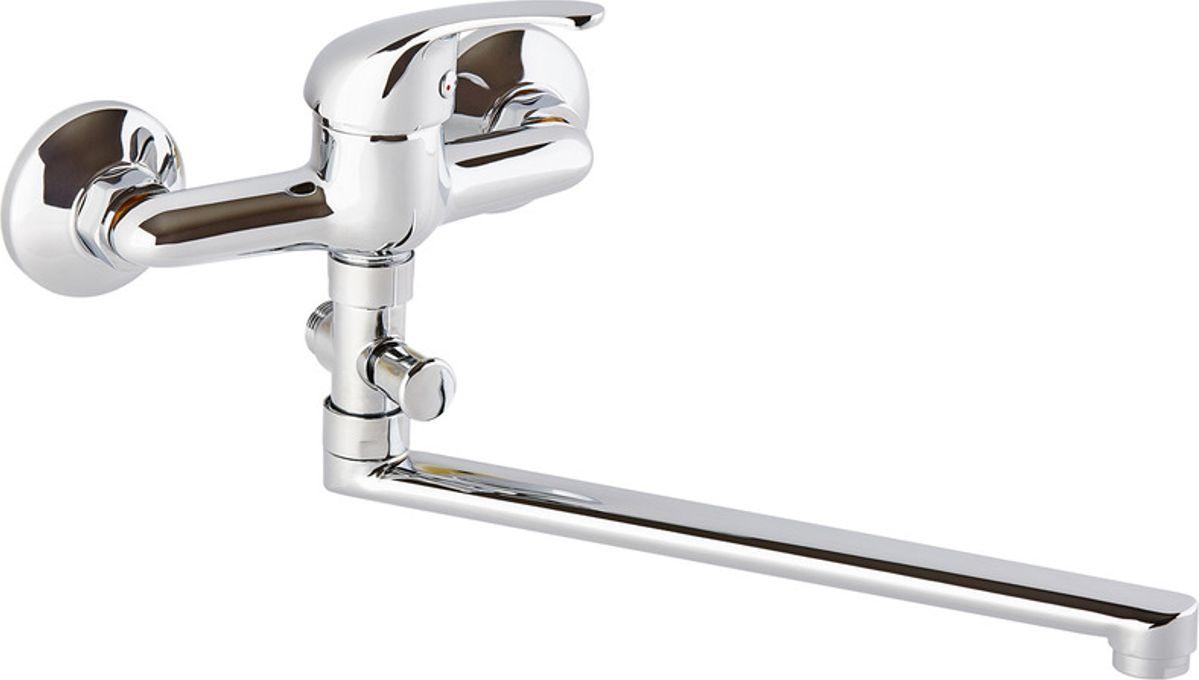 Смеситель для ванны ОПТИМА О2101, одноручковый, с L-образным изливом смеситель для кухни smartsant смеситель для мойки одноручковый с вытяжным изливом sm134037aa