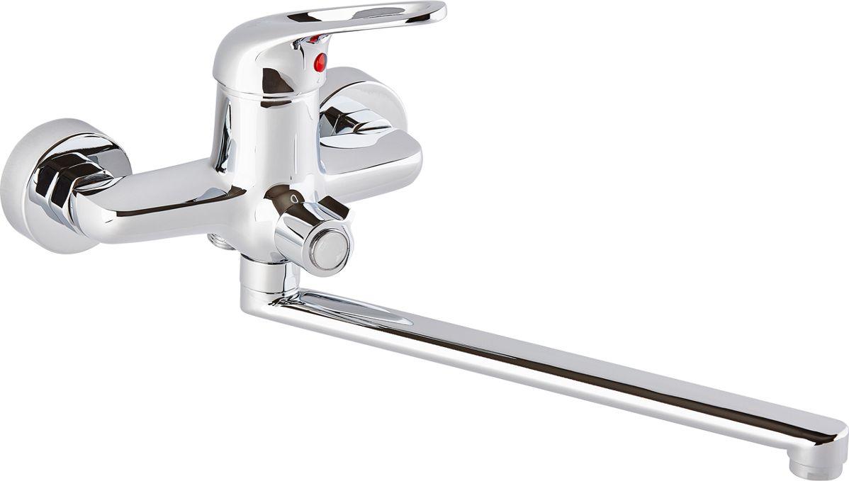 Смеситель для ванны ОПТИМА О2022, одноручковый, с L-образным изливомИС.240735Смеситель для ванны ОПТИМА О2022 одноручковый с L-образным изливом, предназначен для подачи и смешения холодной и горячей воды. Диаметр картриджа: 40 мм.Рабочее давление: до 6 Bar.Максимальное кратковременное давление: до 9 Bar.Рабочая температура: до +90°С.Рабочая среда: вода. В комплект входит: - шланг для душа длина 1,5 м (двойной замок). - 3-х режимная душевая лейка. - кронштейн на стену для душевой лейки.