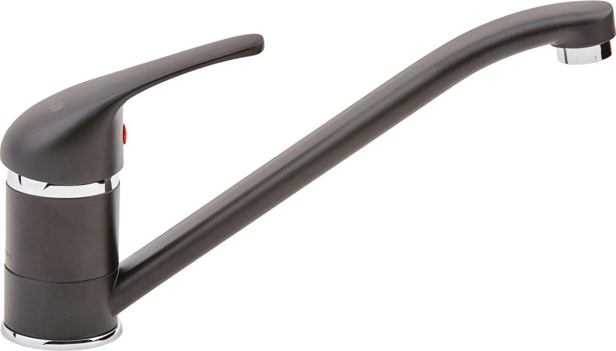 Смеситель для кухни ОПТИМА О4104BK, одноручковый, цвет: черныйИС.240786Одноручковый смеситель для кухни ОПТИМА предназначен для подачи и смешения холодной и горячей воды. Выполнен из латуни с цветным эмалевым покрытием. Снабжен длинным поворотным изливом и встроенным аэратором, который разбавляет поток воды воздухом и делает струю мягче. Смеситель легко монтируется на мойку, быстро подключается к водопроводным сетям благодаря подводке, входящей в комплект. Регулировка температуры осуществляется поворотом рукоятки влево-вправо. Картридж: 35. Длина подводки: 40 см. Рабочее давление: до 6 Bar.Максимальное кратковременное давление: до 9 Bar.Рабочая температура: до +90°С.Рабочая среда: вода.