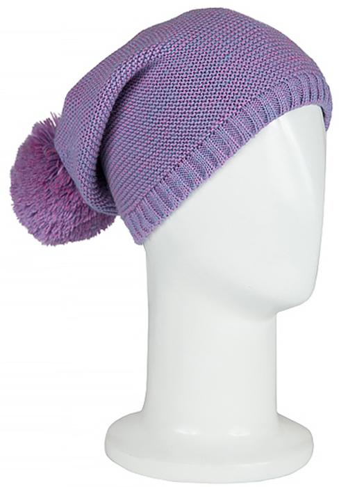 Шапка женская Janes Story, цвет: фиолетовый. 1011. Размер универсальный1011Вязаная шапка на флисовой подкладке Janes Story идеально подойдет для вас в холодное время года. Изготовленная из акрила и шерсти, она мягкая и приятная на ощупь, обладает хорошими дышащими свойствами и максимально удерживает тепло. Модель дополнена помпоном. Такой стильный и теплый аксессуар дополнит ваш образ и подчеркнет индивидуальность.