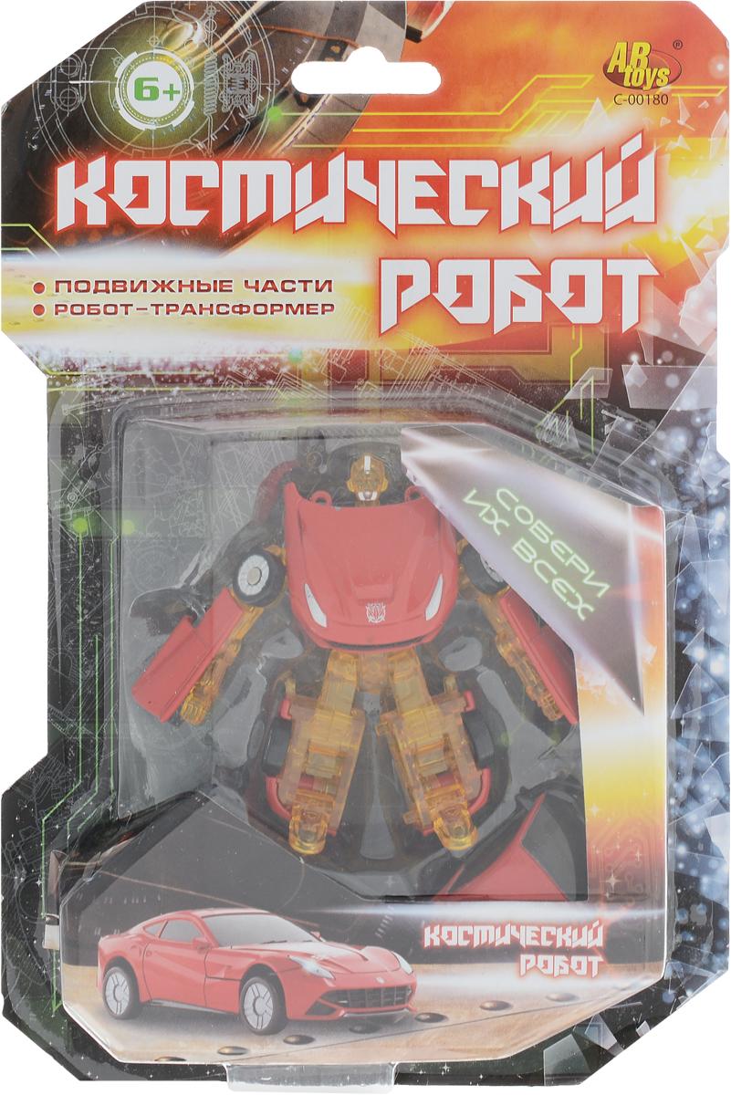 ABtoys Трансформер Космический робот цвет красный желтый abtoys игрушечный музыкальный руль цвет черный желтый красный