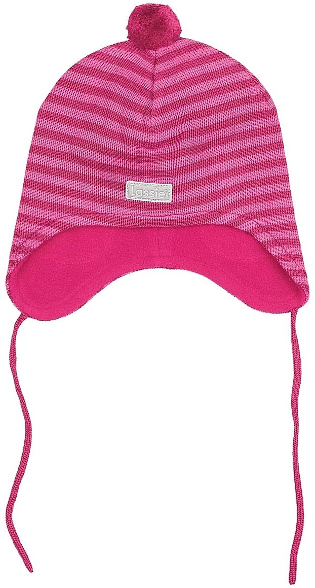 Шапка для девочки Lassie, цвет: розовый. 7187234801. Размер 50/527187234801Комфортная детская шапка Lassie идеально подойдет для прогулок в холодное время года, защищая ушки ребенка от ветра.Шапочка выполнена из полиакрила и шерсти. Уважаемые клиенты!Размер, доступный для заказа, является обхватом головы.